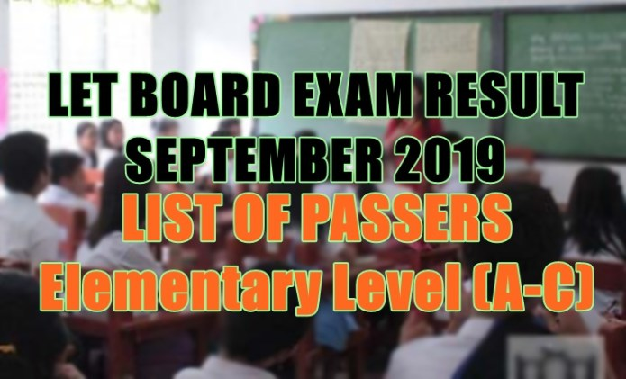 let board exam elem a-c
