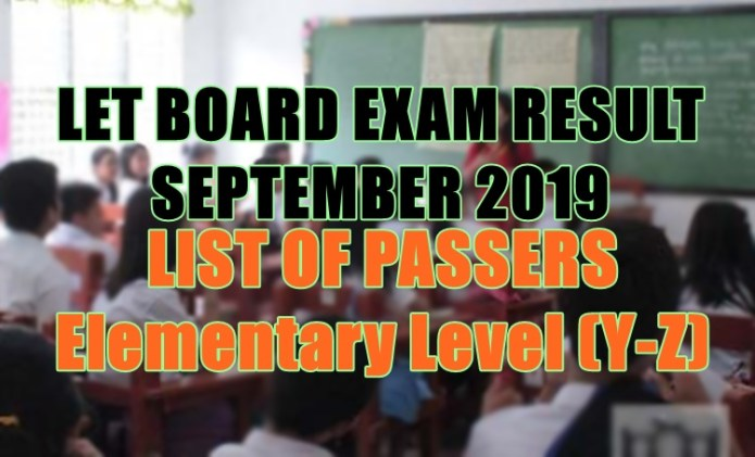 let board exam elem y-z