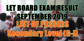 let board exam sec g-i