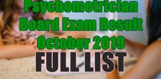 psychometrician full list