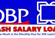 DBP Cash Salary Loan