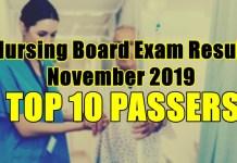 nursing board exam result top 10