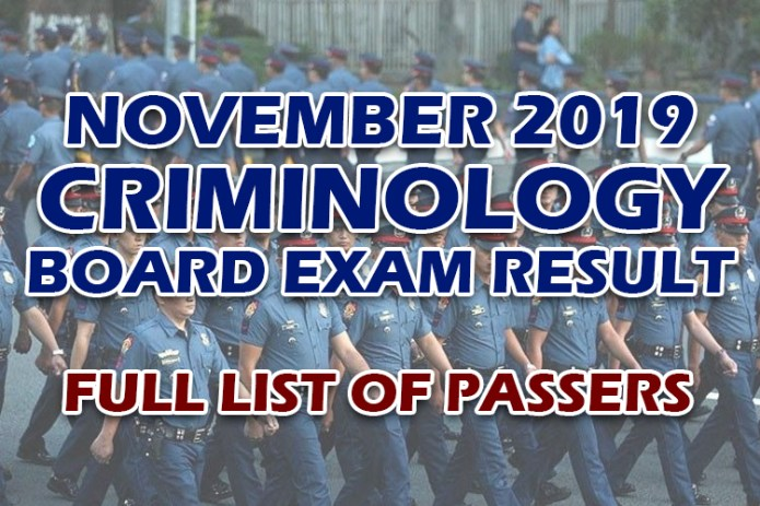 Criminology Board Exam Result November 2019