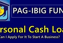 Pag-IBIG Personal Cash Loan