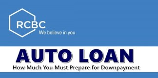 RCBC Auto Loan Downpayment