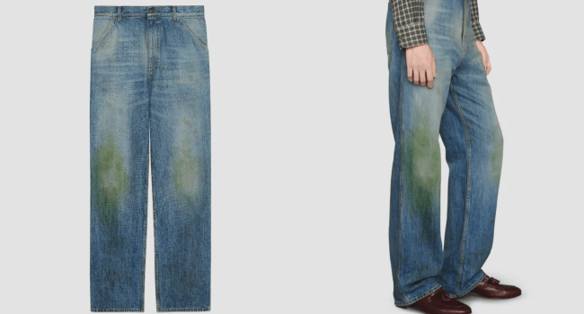 Gucci Jeans With Fake Grass Stains Sold For P60,000