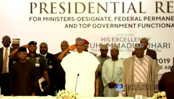 PHOTOS: Buhari attends presidential retreat for ministers-designate