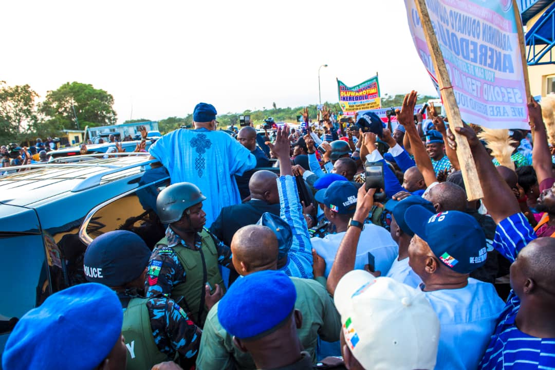 Image result for Akeredolu returns to Ondo after two months of absence