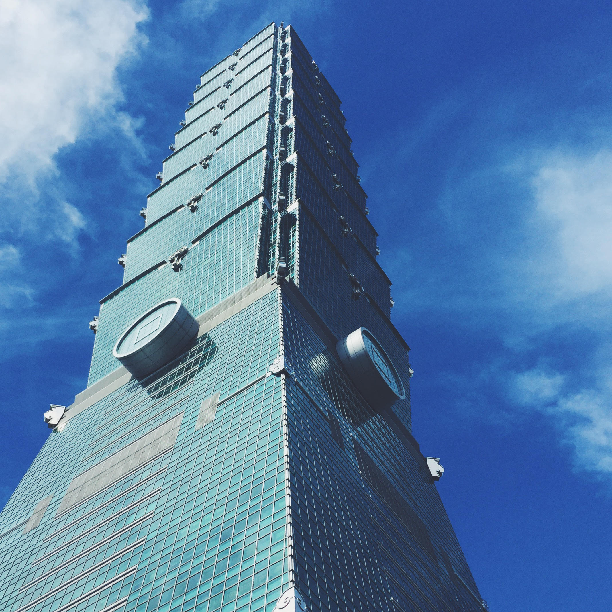 High and mighty Taipei 101, always an impressive sight.