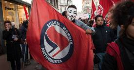 red flag is ANTIFA a political party are ANTIFA violent riot protestors