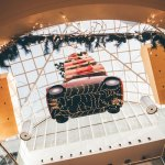 Driving home for Christmas – new spectacular decorations for St. Davids include a real Mini Cooper car!