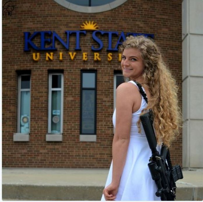 america here is why kaitlin bennett poses with rifle ar 10 in campus newsfry