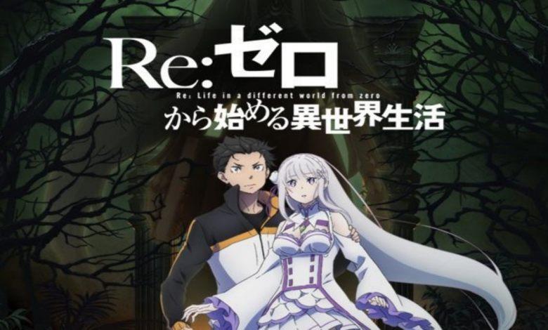 Guia Temporada de Julho de animes - Poster segunda tempora de re:zero