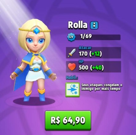 Melhores Heróis de Archero - Rolla