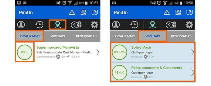 Pinion, Missões