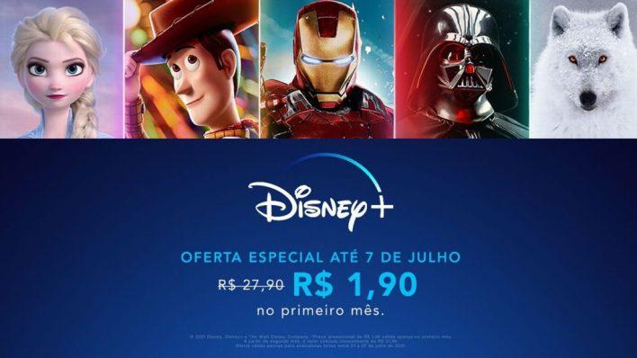Foto/Reprodução: Promoção da Disney + até 07 de Julho.
