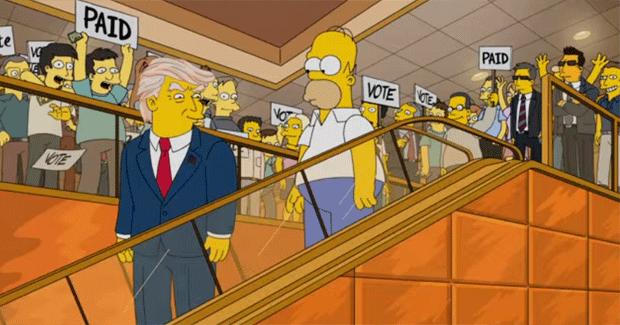 Candidatura de Donald Trump - Simpons