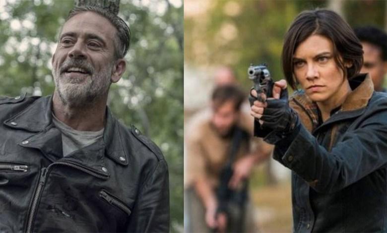 Negan e Maggie em The Walking Dead.