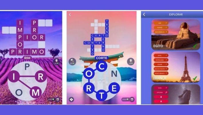 Layout jogo words of wonders - jogos de raciocínio