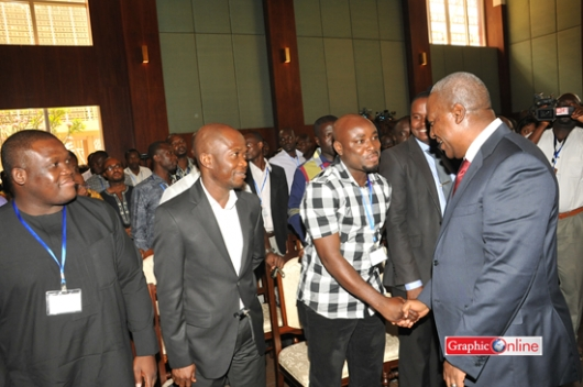 Mahama And Journalists