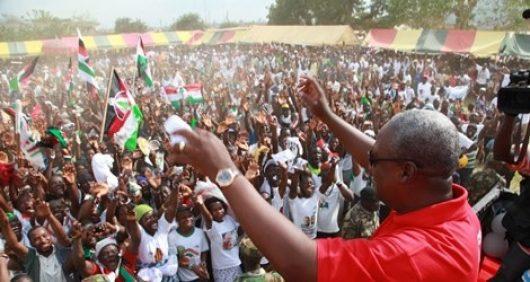 President John Dramani Mahama And Ndc Supporters