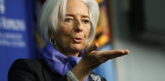 "The global economy is ""too weak for comfort"", Christine Lagarde said"