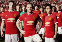 The 2014-15 kit will be the last Manchester United one made by Nike after they ended a 13-year deal?