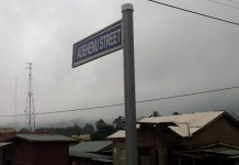 picture of one of the signages mounted in the Ho township