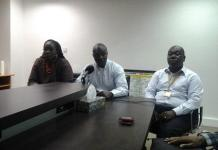Officials of MTN at the news event.