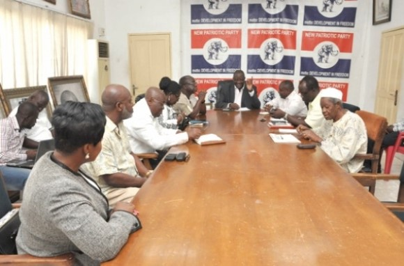 Nana Akufo-Addo (3rd left) at the meeting with members of the National Steering Committee in Accra presided over by Mr Afoko (in suit).