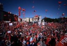 Protesters packed Rome's San Giovanni square