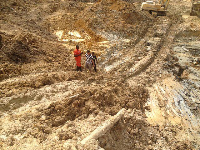 Chinese Mining Site at Adumanu