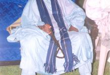 Sheikh Harun Cisse in a pensive and meditative mood
