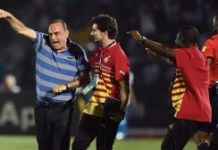 Avram Grant celebrates Ghana?s dramatic winner against Algeria