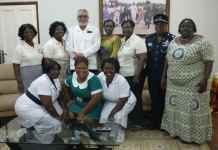 The GRMA delegation pose with President and Mrs RawlingsI