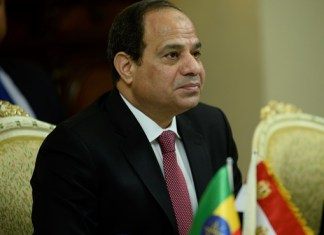 Egyptian President Abdel-Fattah El-Sisi attends the Egyptian-Ethiopian relations and common interests bilateral meeting at the National Palace in Addis Ababa, capital of Ethiopia, March 24, 2015. Abdel-Fattah El-Sisi is in Ethiopia for a two-day official visit. (Xinhua/Michael Tewelde)