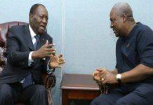 President Mahama & Ouatarra in a tete-a-tete