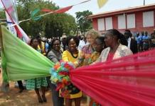 Ms. Esther Cobbah and other dignitaries at the event