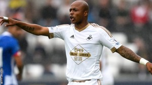 Andre Ayew swans