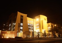 Photo taken on Sept. 28, 2015 shows a view of a court complex for the judicial service in Accra, capital of Ghana. Ghanian President John Dramani Mahama on Friday assured Ghanaians of his commitment to fight corruption at the inauguration of a multi-million dollar court complex for the judicial service in Accra. The 42-room facility was constructed by the China State Hualong Construction, Ghana Limited. (Xinhua/Li Ziyun)