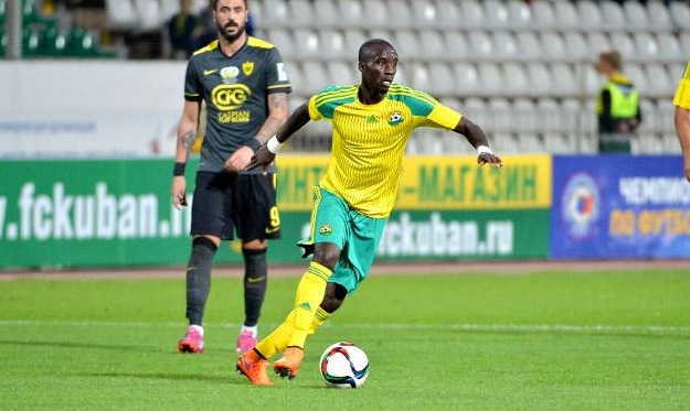 Ghana midfielder Rabiu Mohammed was sent off while in action for Kuban in Russia
