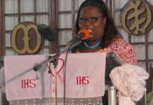 Nana Oye Lithur, Minister of Gender at a public forum
