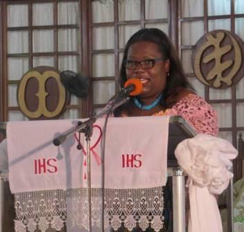 Nana Oye Lithur, Minister of Gender at a public forum