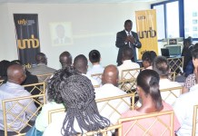 Mr John Awuah, UMB CEO addressing guests at the trade business seminar