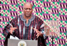 President Mahama delivering State of the Nation address