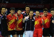 China's men's table tennis team
