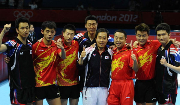 China's men's table tennis team