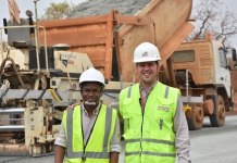 Rafael Bohrer Gressler (right), the Project Engineer, Odebrecht Ghana and Lester Quarcoopome, Young Partner-1