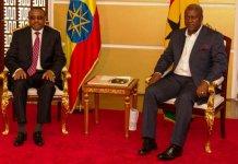 Mahama and Ethiopian PM