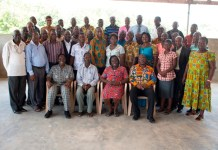Facilitators in a group photograph with some of the school managers and headmasters after the seminar.